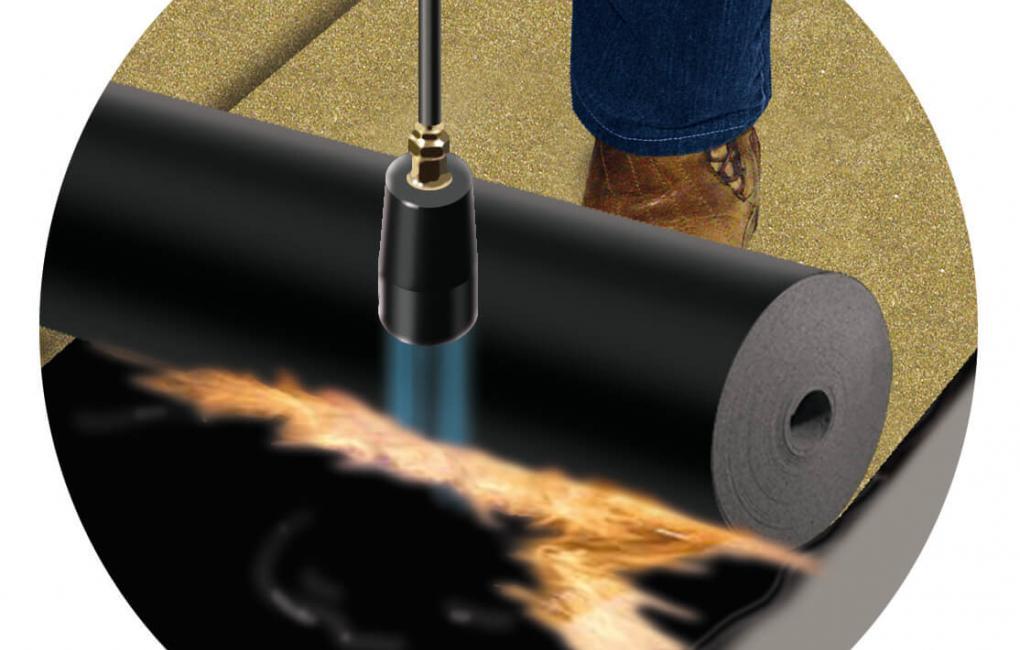 GV 35E vízszigetelő lemez lángolvasztással történő beépítése