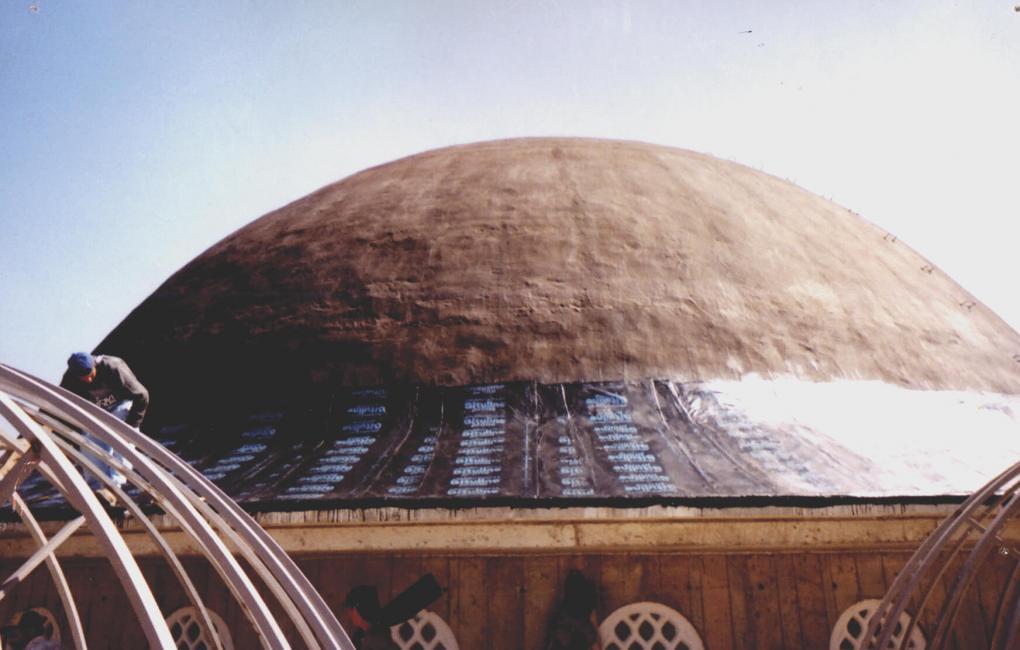 Ankara, Törökország- Saraykoy mecset fedése APP PA 4 kg lemezzel
