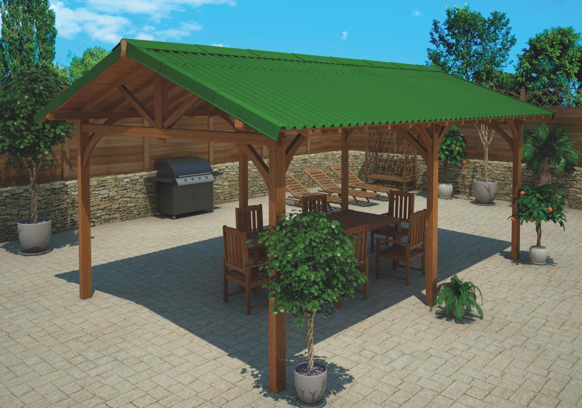 Onduline Easyfix zöld kerti patio