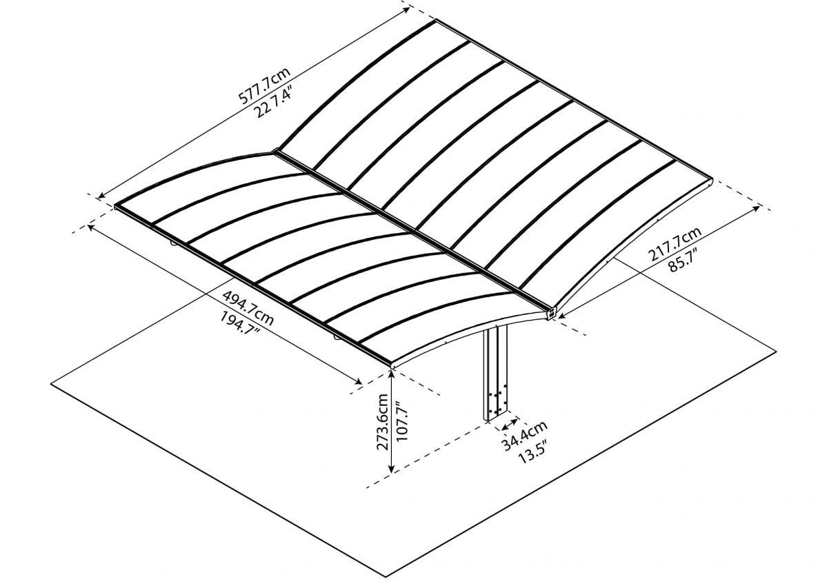 Arizona 5000 pillangószárnyú szerkezeti rajz
