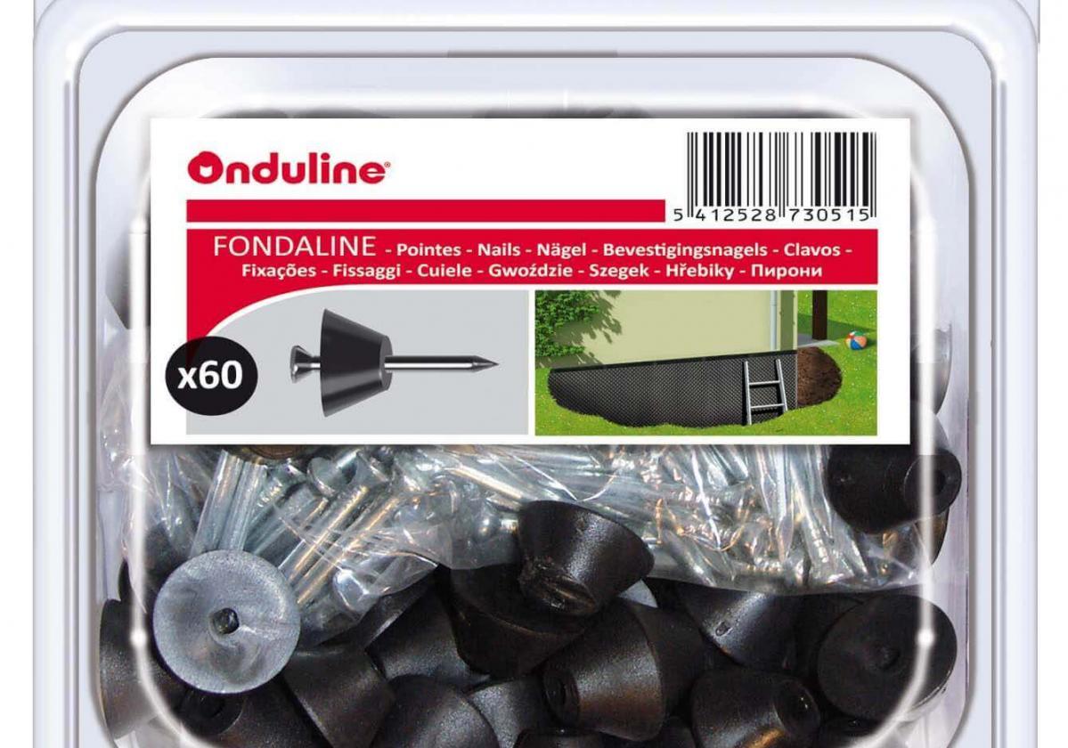 Rögzítő kupak szegekkel a Fondaline domborlemezekhez