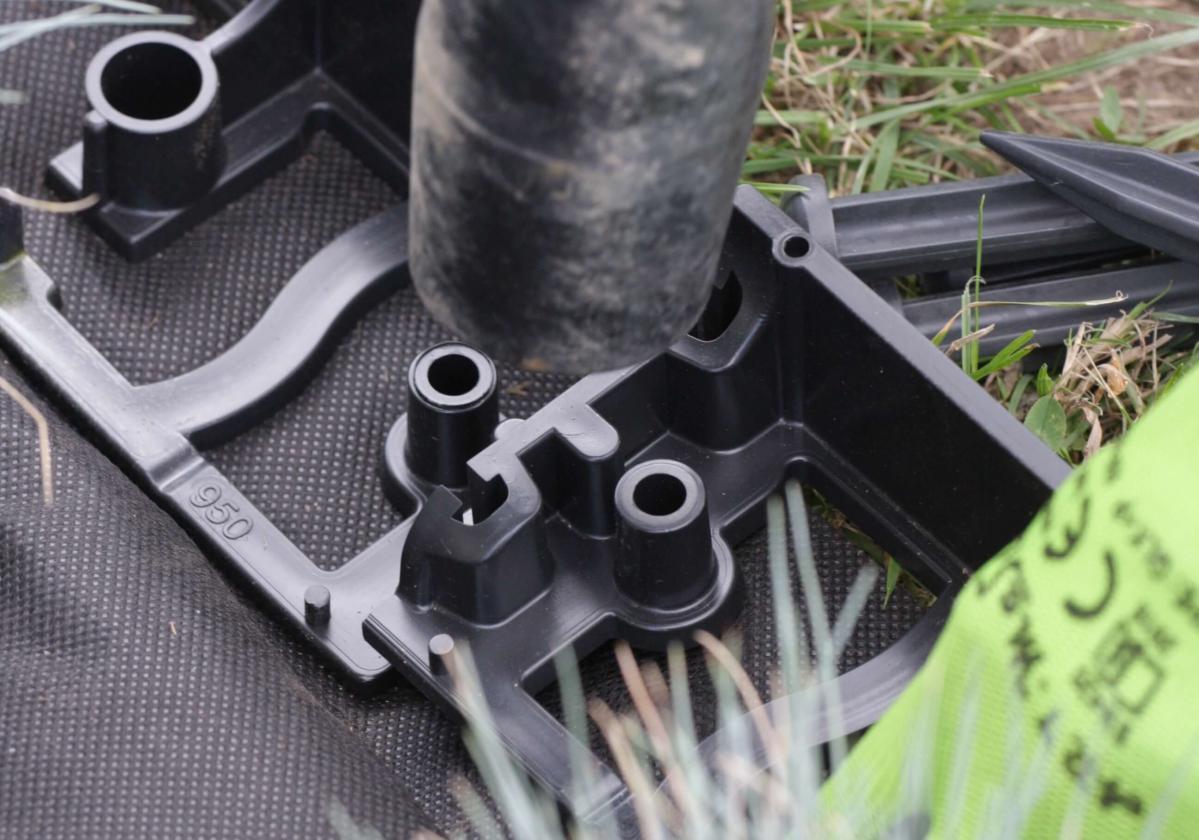 GardenRand 45 rögzítése RandPeg csappal