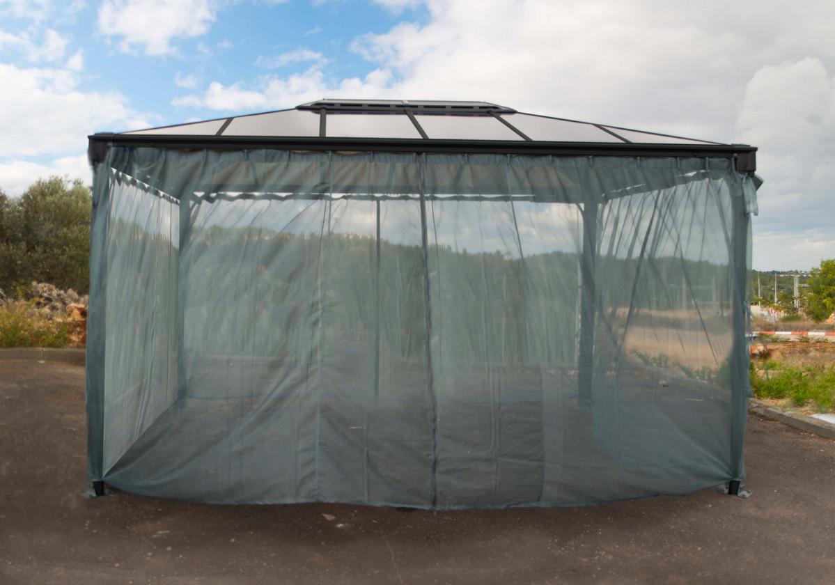 Szúnyogháló nyitott pavilonra